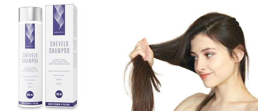 Die Effekte sind nach dem ersten Gebrauch Chevelo Shampoo sichtbar.